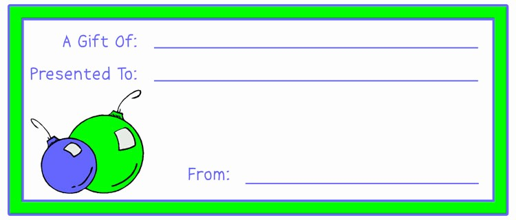 Diy Gift Certificate Template Free Inspirational Make Gift Certificates with Printable Homemade Gift