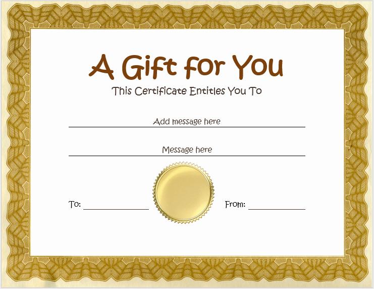 Diy Gift Certificate Template Free Unique Homemade Gift Certificate Template Word Templates