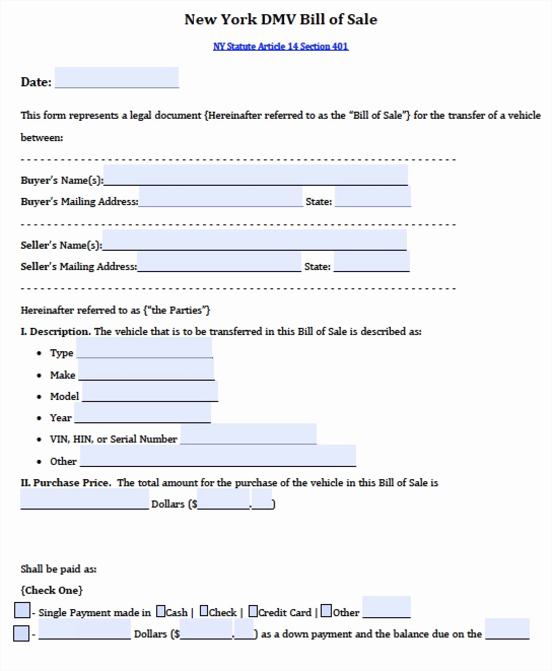 Dmv Bill Of Sale Template New Bill Sale Sample Document Mughals