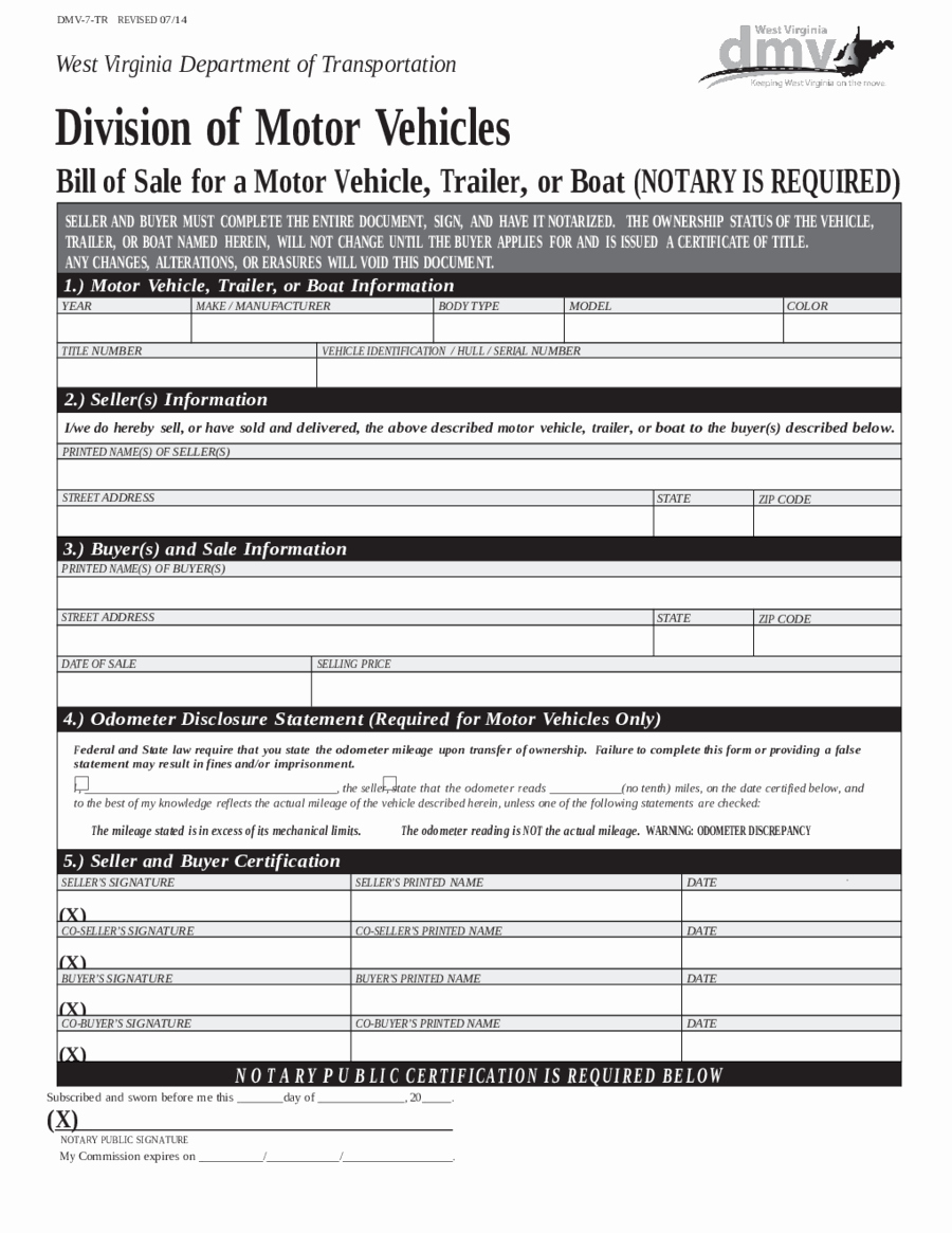 Dmv Bill Of Sell form Luxury 2018 Dmv Bill Of Sale form Fillable Printable Pdf