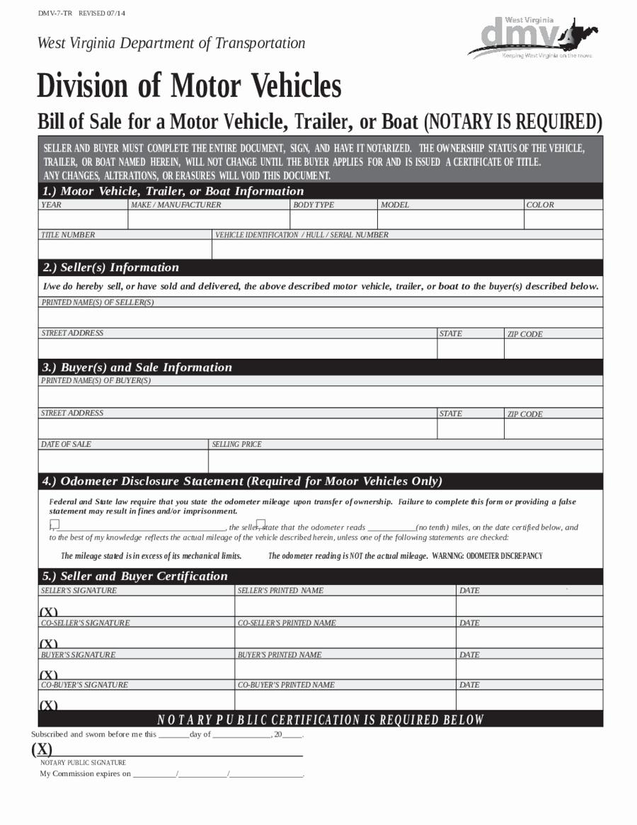 Dmv Bill Of Sell form Luxury 2018 Dmv Bill Of Sale form Fillable Printable Pdf