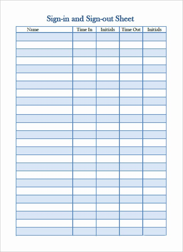 Doctor Sign In Sheet Template Best Of 34 Sample Sign In Sheet Templates – Pdf Word Apple