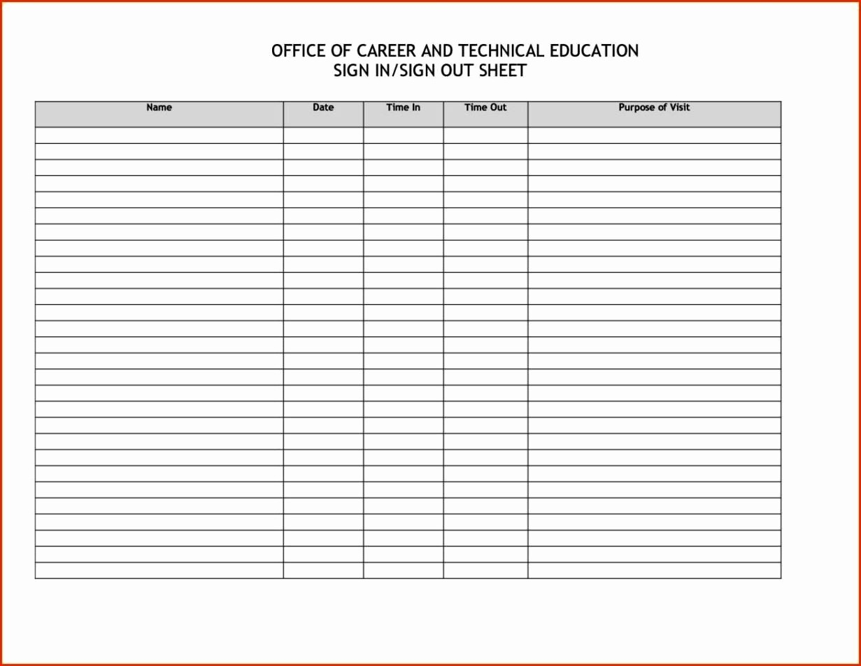 Doctor Sign In Sheet Template Luxury Sign In Sheet for Doctors Fice Templates