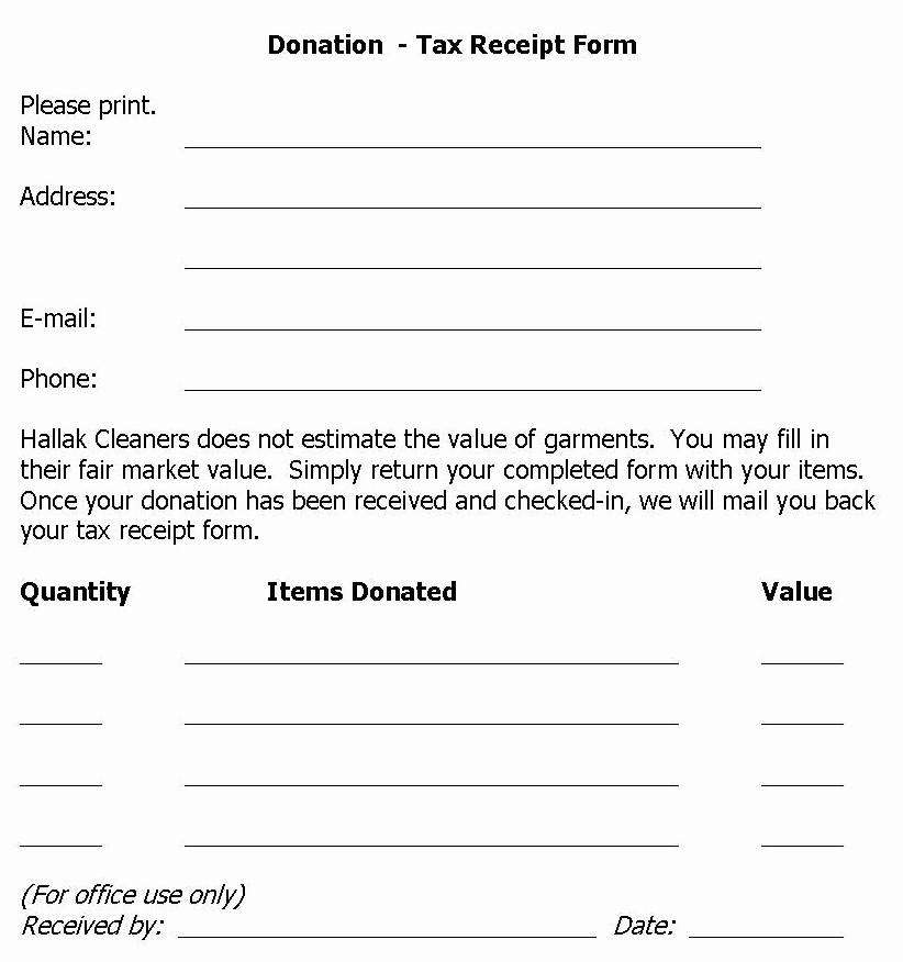 Donation form for Tax Purposes Awesome Hallak Cleaners Donation Drive Held at Hallak Cleaners