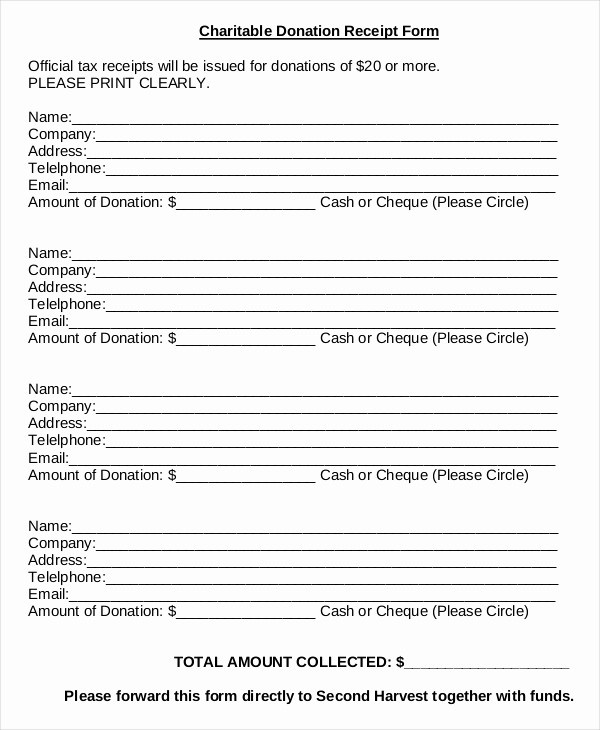 Donation form for Tax Purposes Inspirational Donation Sheet Template 4 Free Pdf Documents Download