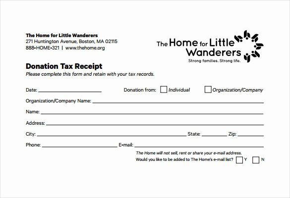 Donation form for Tax Purposes New 15 Donation Receipt Template Samples