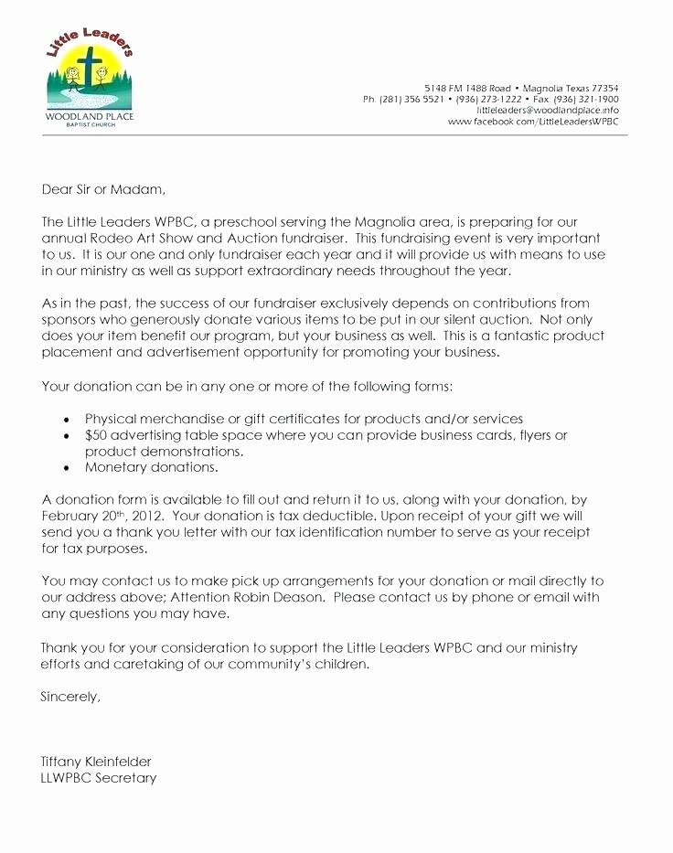 Donation form for Tax Purposes Unique Sample Church Donation Letter for Tax Purposes