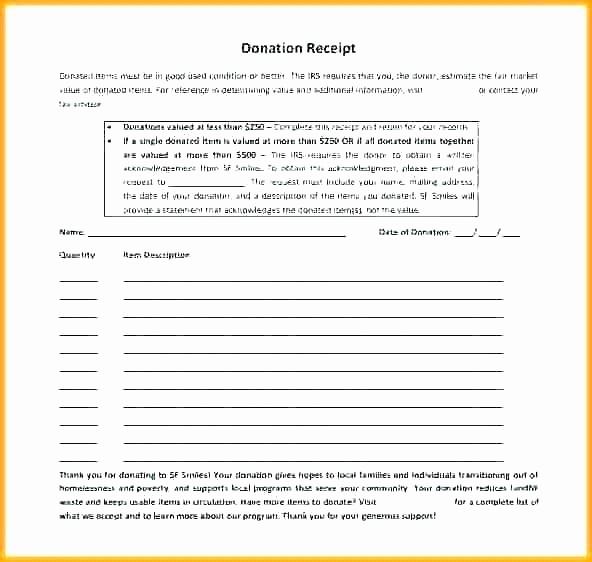Donation Receipt for Non Profit Awesome Non Profit Donation Receipt Letter – Samplethatub