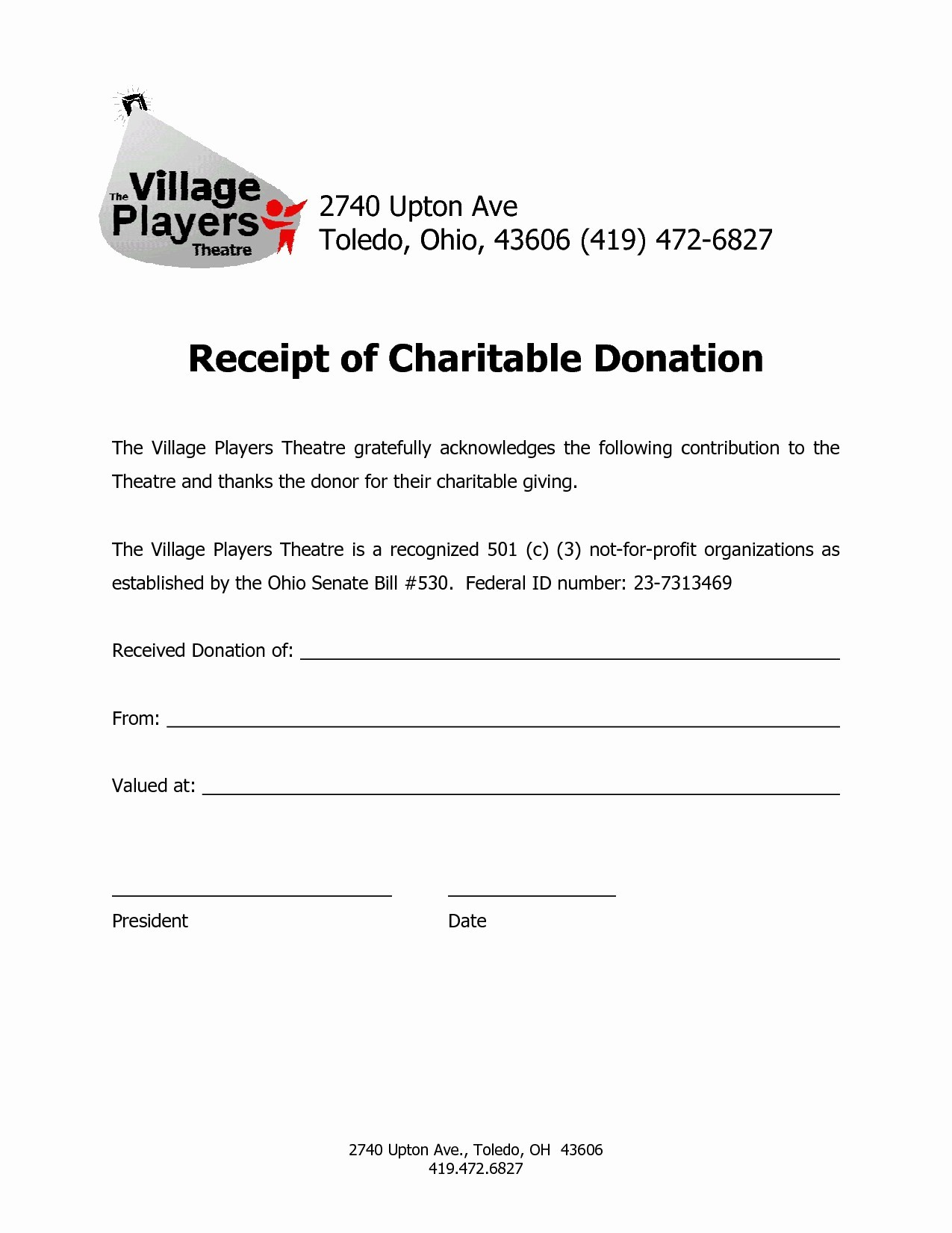 Donation Receipt for Non Profit Awesome Non Profit Tax Deduction Letter Template Collection