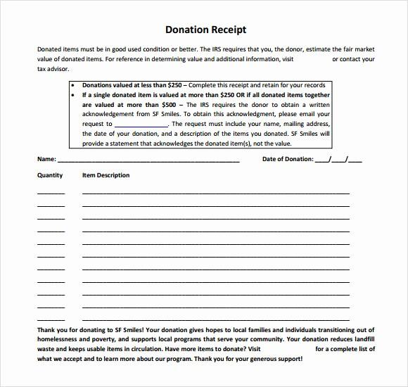 Donation Receipt for Non Profit Elegant 10 Donation Receipt Templates – Free Samples Examples