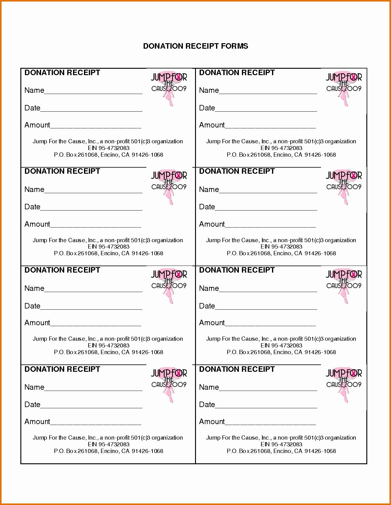 Donation Receipt for Non Profit Elegant Non Profit Donation Receipt Templatereference Letters
