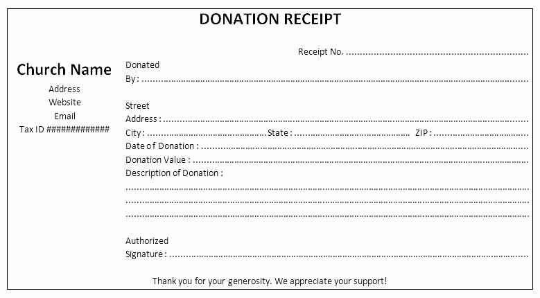 Donation Receipt for Non Profit Fresh Year End Donation Receipt Template