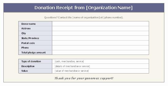 Donation Receipt for Non Profit Lovely Donation Receipt