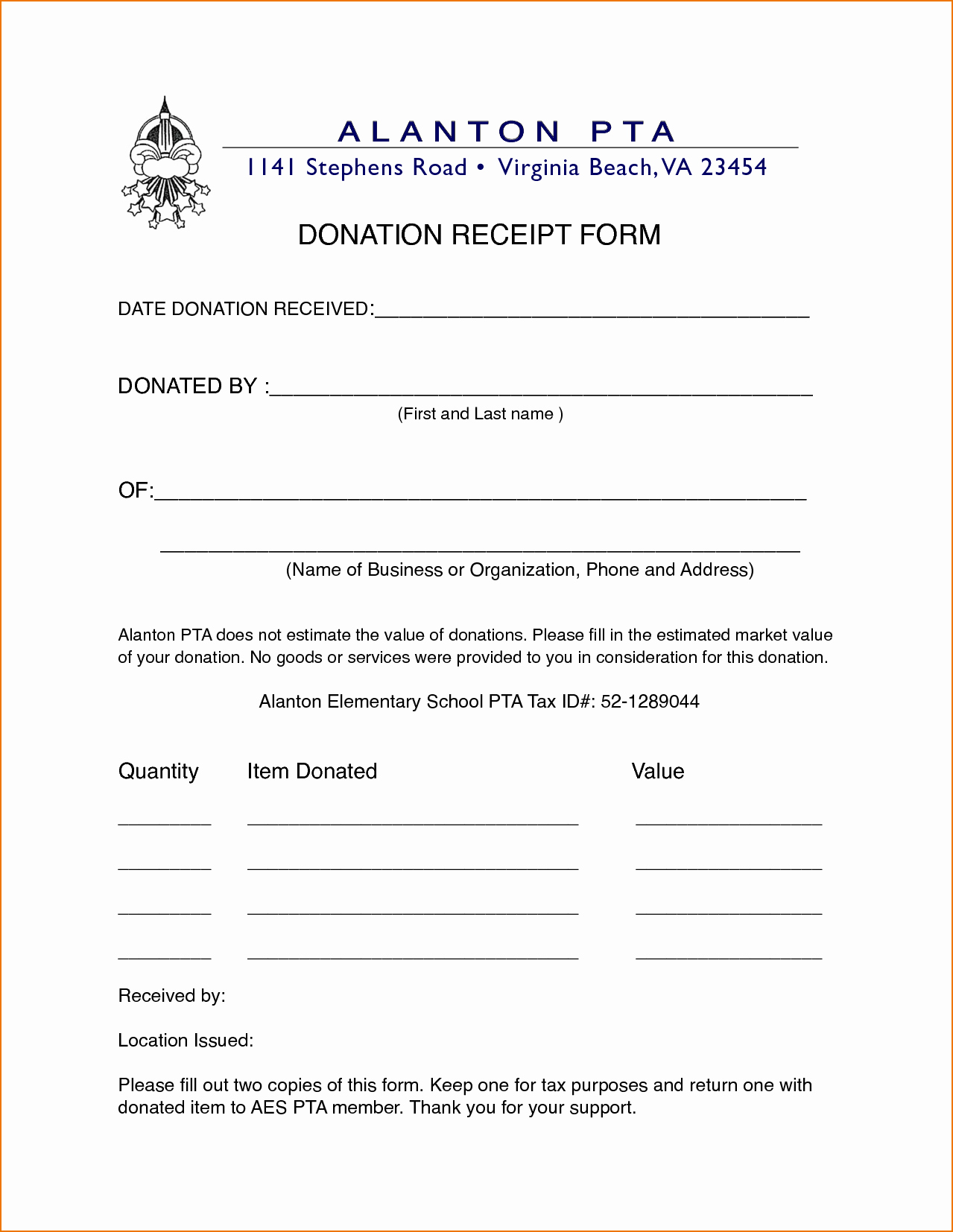 Donation Receipt for Non Profit New 4 Non Profit Donation Receipt Template
