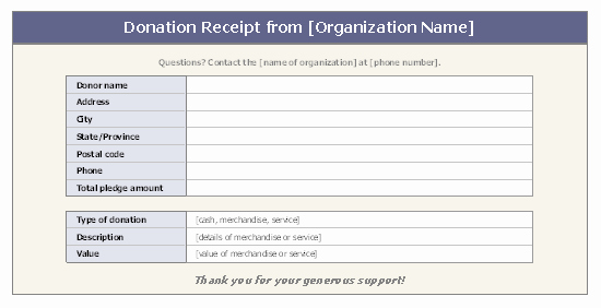 Donation Receipt Letter Template Word Awesome Receipts Fice