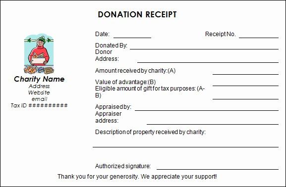 Donation Receipt Letter Template Word Elegant Sample Donation Receipt Template 17 Free Documents In