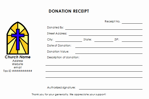 Donation Receipt Letter Template Word Inspirational Church Donation Receipt Template