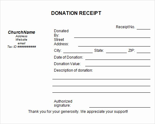 Donation Receipt Letter Template Word Inspirational Template Donation Receipt