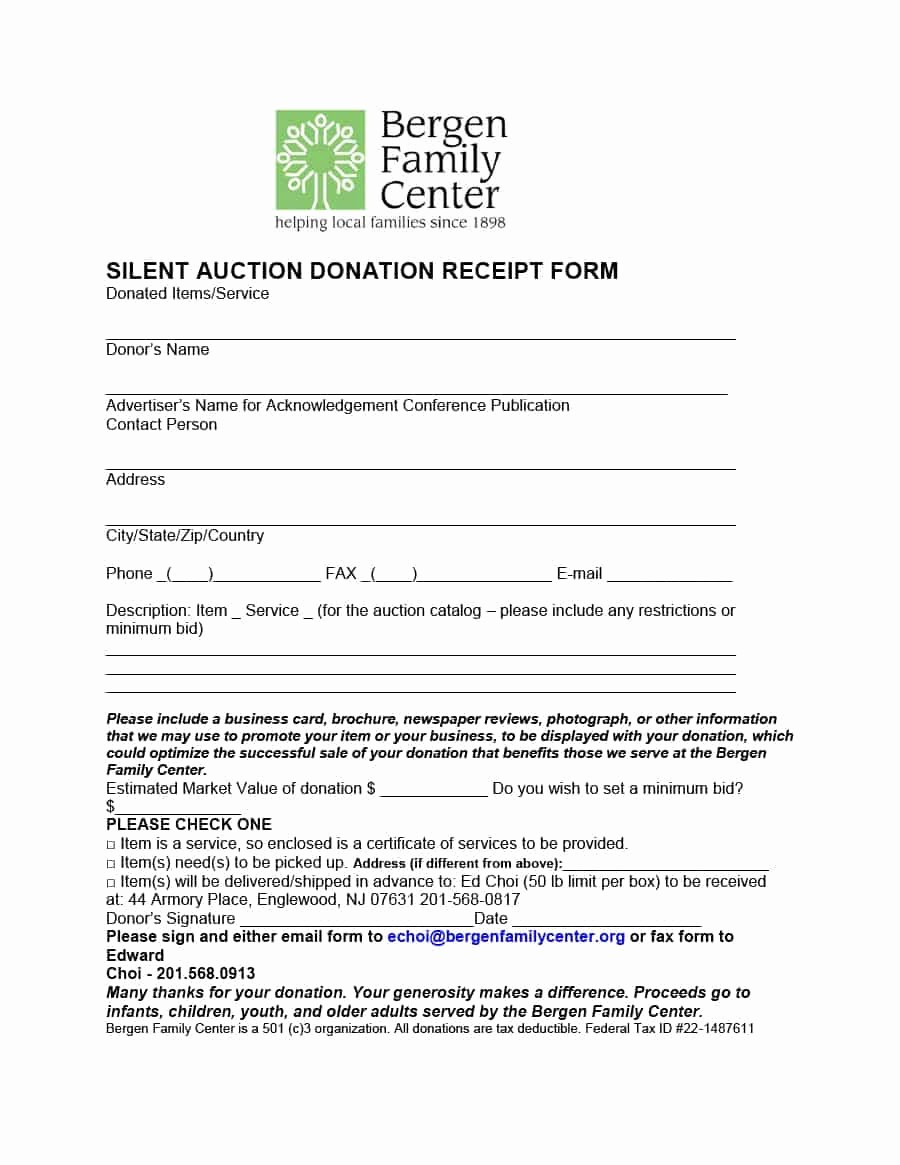 Donation Receipt Letter Template Word New 40 Donation Receipt Templates & Letters [goodwill Non Profit]