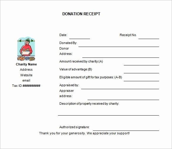 Donation Receipt Letter Template Word Unique 10 Donation Receipt Templates Doc Pdf