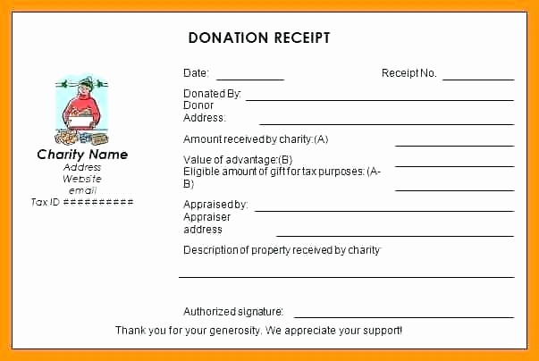 Donation Receipt Template Google Docs Beautiful Salvation Army Donation Receipt form Church Donation