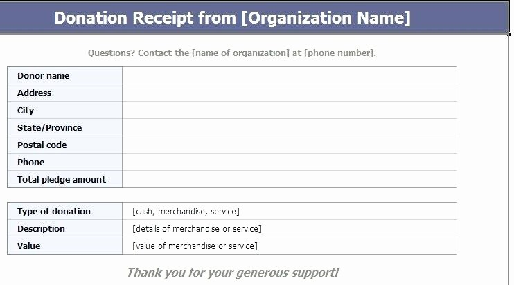 Donation Receipt Template Google Docs Fresh Non Profit Donation Receipt Template issue Visualize