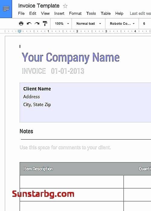 Donation Receipt Template Google Docs Inspirational Template Printable Google Invoice Template Download Docs
