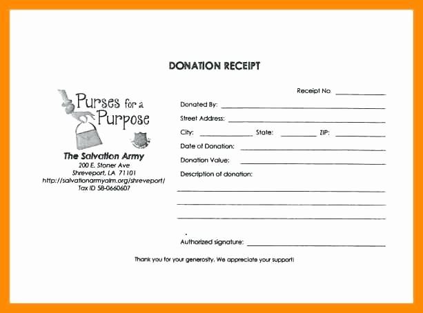 Donation Receipt Template Google Docs New Donation Receipt Template Donation Receipt Army Donation