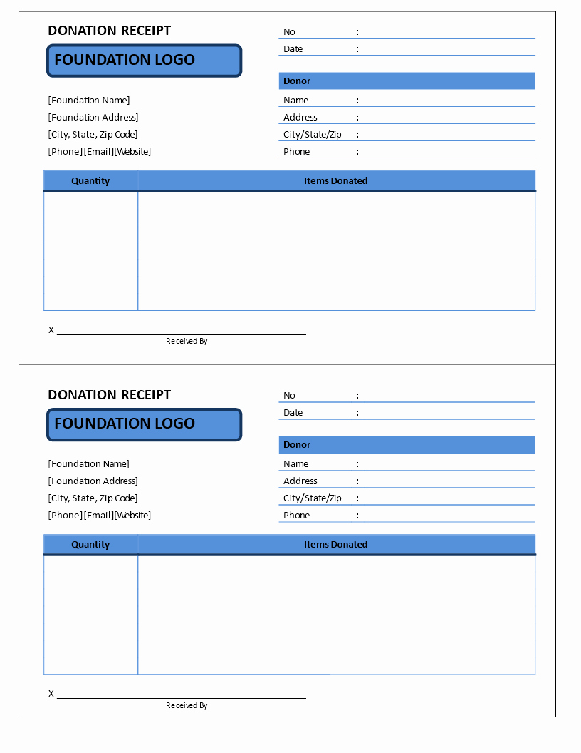 Donation Receipt Template Google Docs New Free Non Profit Donation Receipt Template