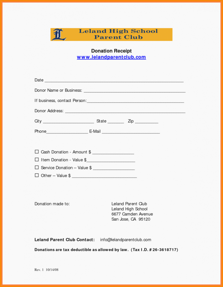 Donation Receipts for Tax Purposes Awesome Sample Church Donation Receipt Letter for Tax Purposes
