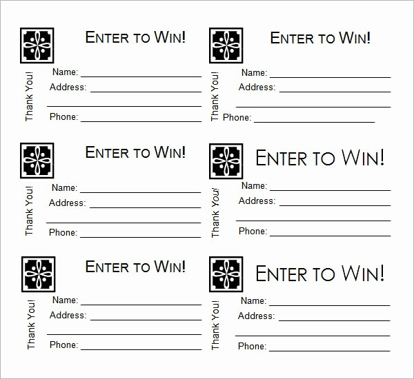 Door Prize Entry form Template Best Of 23 Raffle Ticket Templates – Pdf Psd Word Indesign