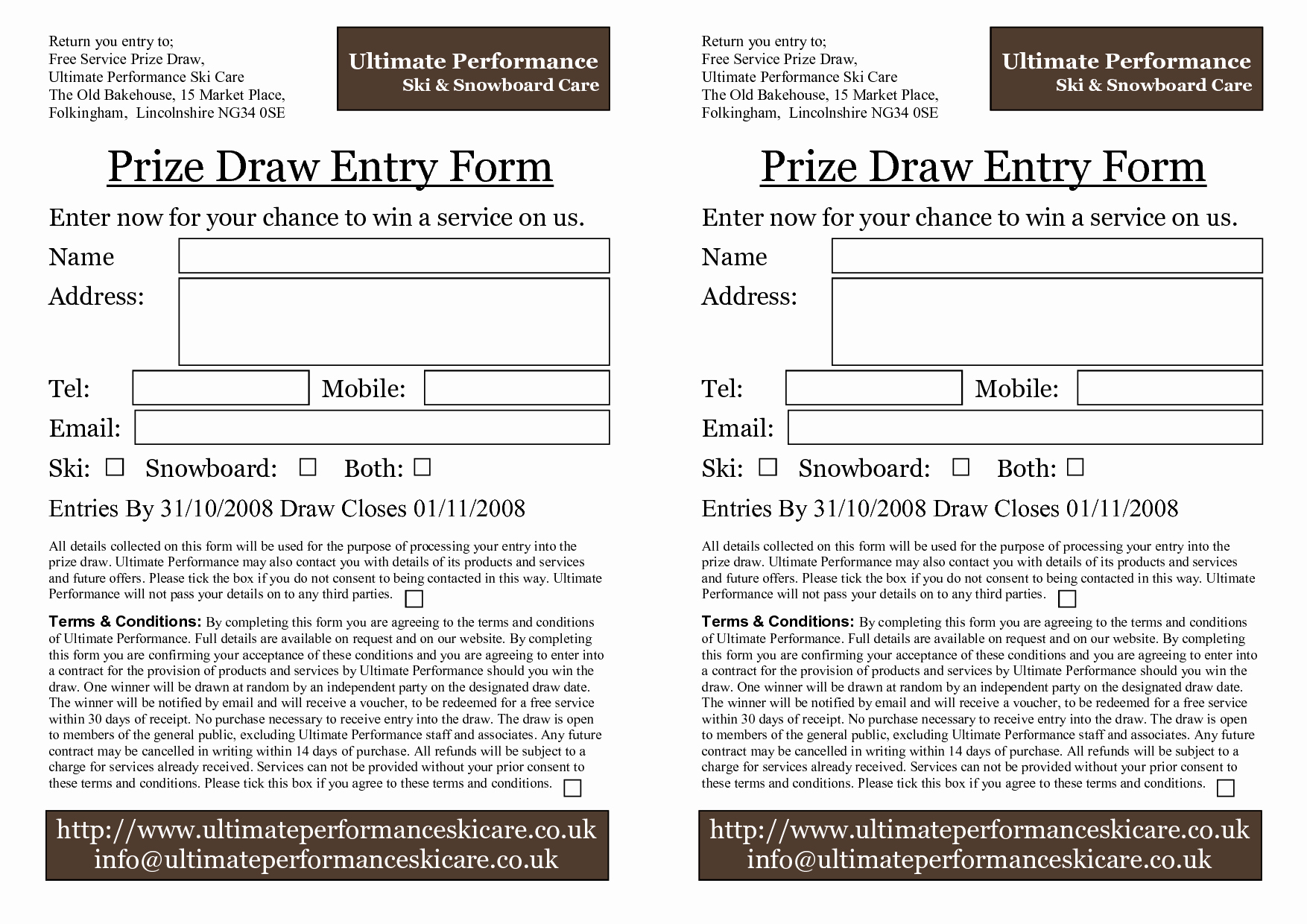 Door Prize Entry form Template Best Of Prize Entry form Template to Pin On Pinterest