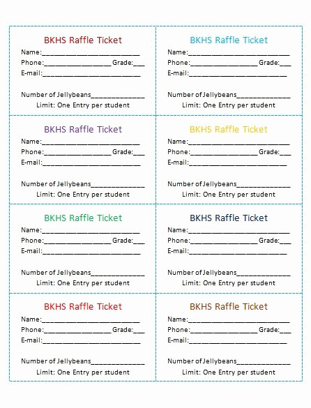 Door Prize Entry form Template Inspirational Avery Raffle Ticket Templates …