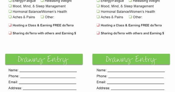 Door Prize Entry form Template Lovely Door Prize Drawing Template Door Prize…