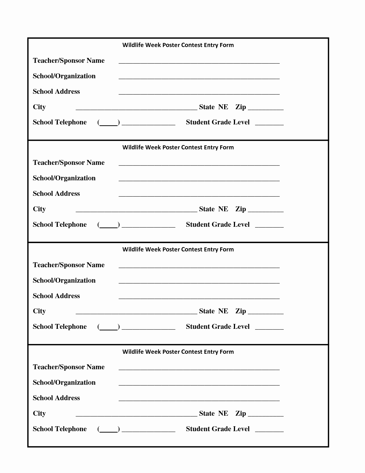 Door Prize Entry form Template New 6 Best Of Drawing Entry forms Printable Blank