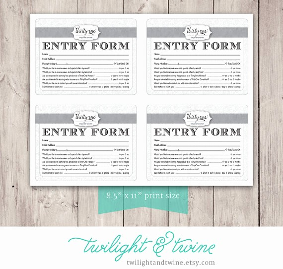Door Prize Entry form Template New Entry Drawing at Getdrawings