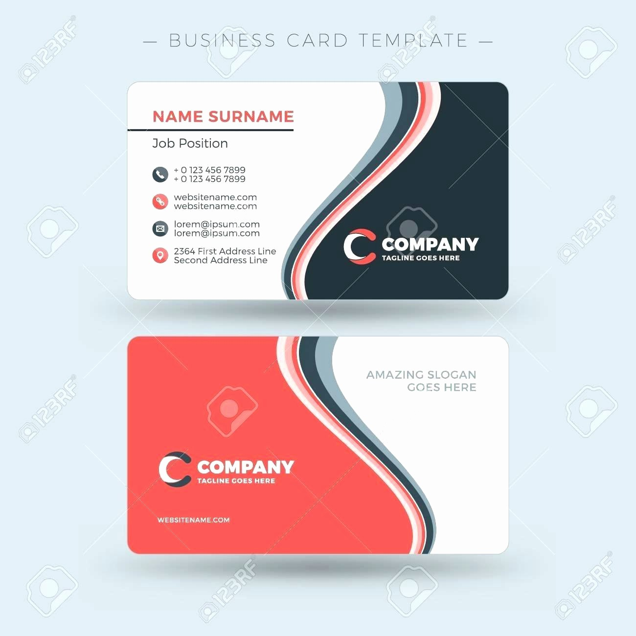 Double Sided Flash Card Template Best Of Free Double Sided Business Card Template Word Best – thefreedl