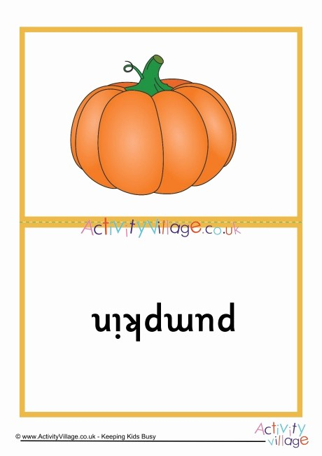 Double Sided Flash Card Template Fresh Autumn Picture Flash Cards Double Sided