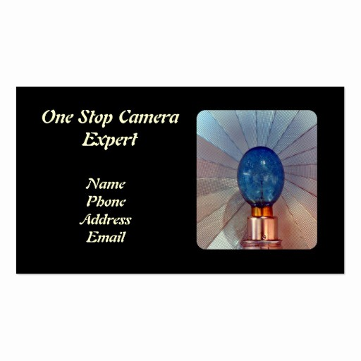 Double Sided Flash Card Template Lovely Vintage Old Camera Flash with Bulb Double Sided Standard