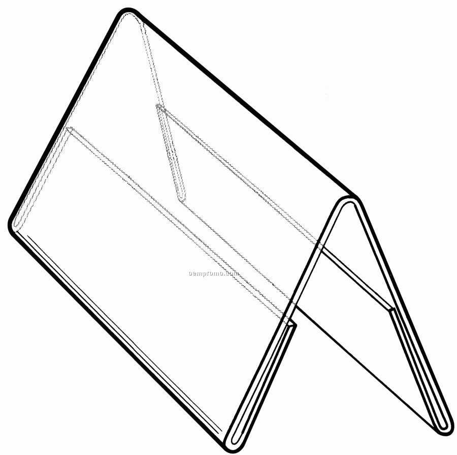 Double Sided Tent Card Template Beautiful Clear Acrylic Slant Back Sign Holder W Brochure Pocket