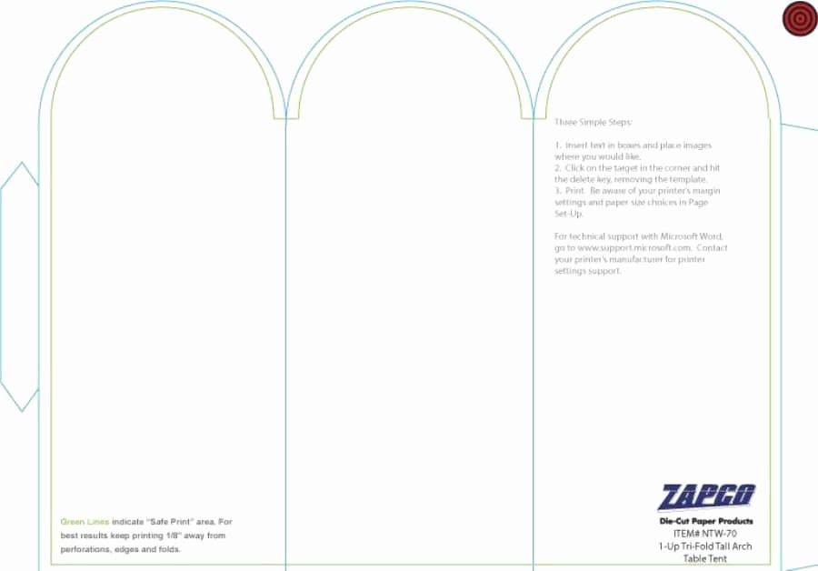 Double Sided Tent Card Template Lovely Table Tent Template Word