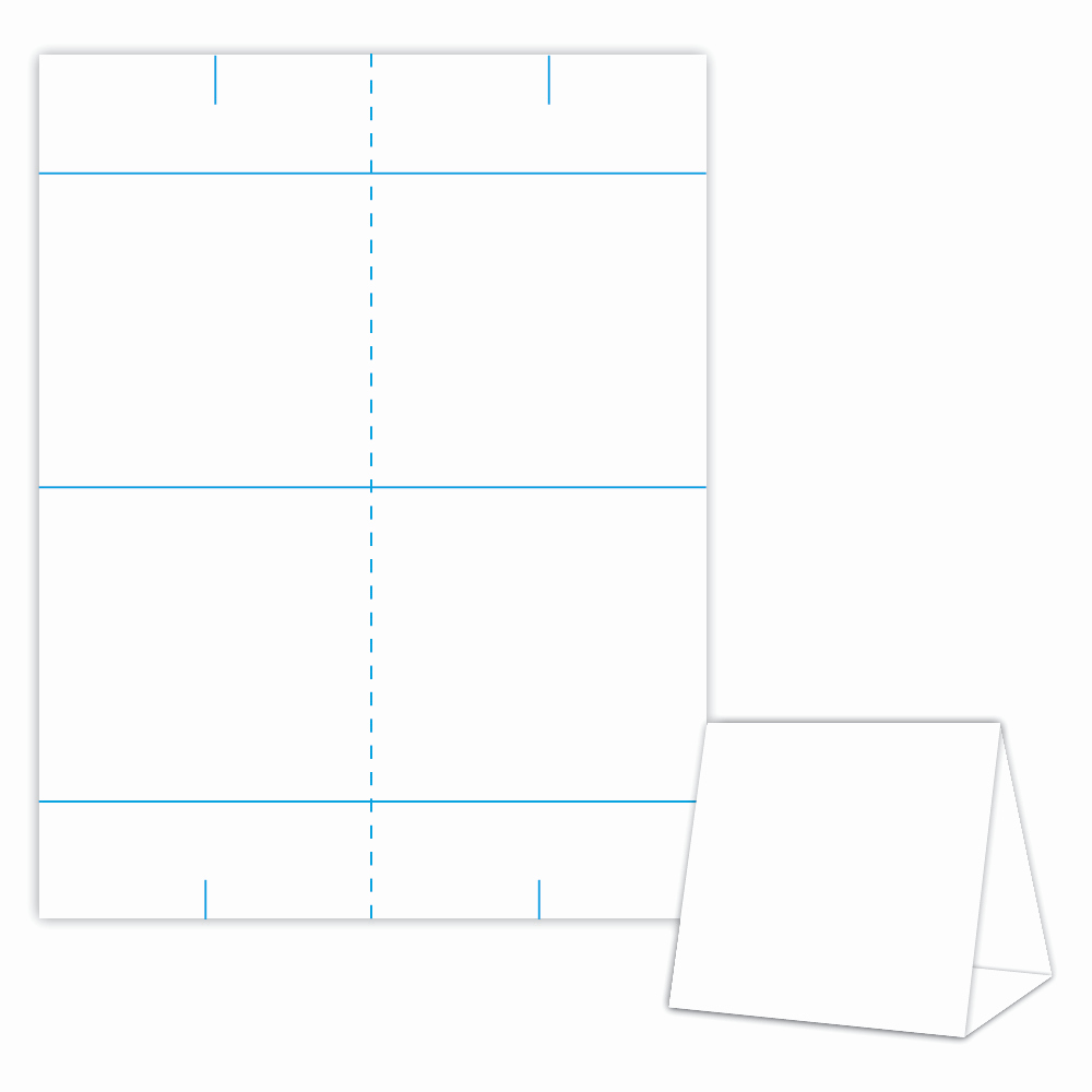 Double Sided Tent Card Template Unique Table Tent Design Template Blank Table Tent White