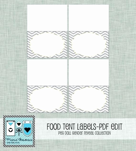 Double Sided Tent Card Template Unique Tent Card Template for Table Cards Awesome Elegant Place