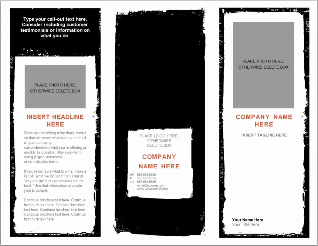 Download Brochure Templates for Word Inspirational Word Brochure Template