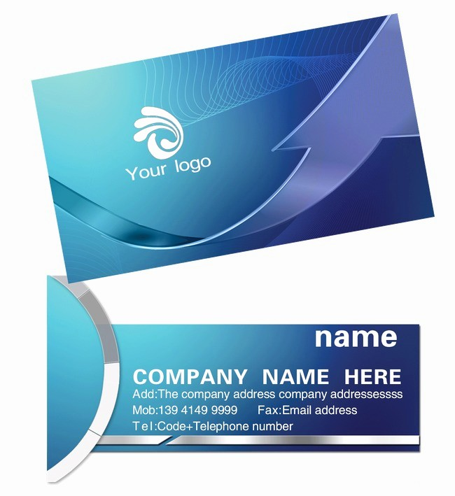 Download Business Card Template Word Elegant Blue Business Cards Business Card Design Business Card