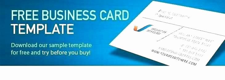 Download Business Card Template Word Luxury Business Card Print Template