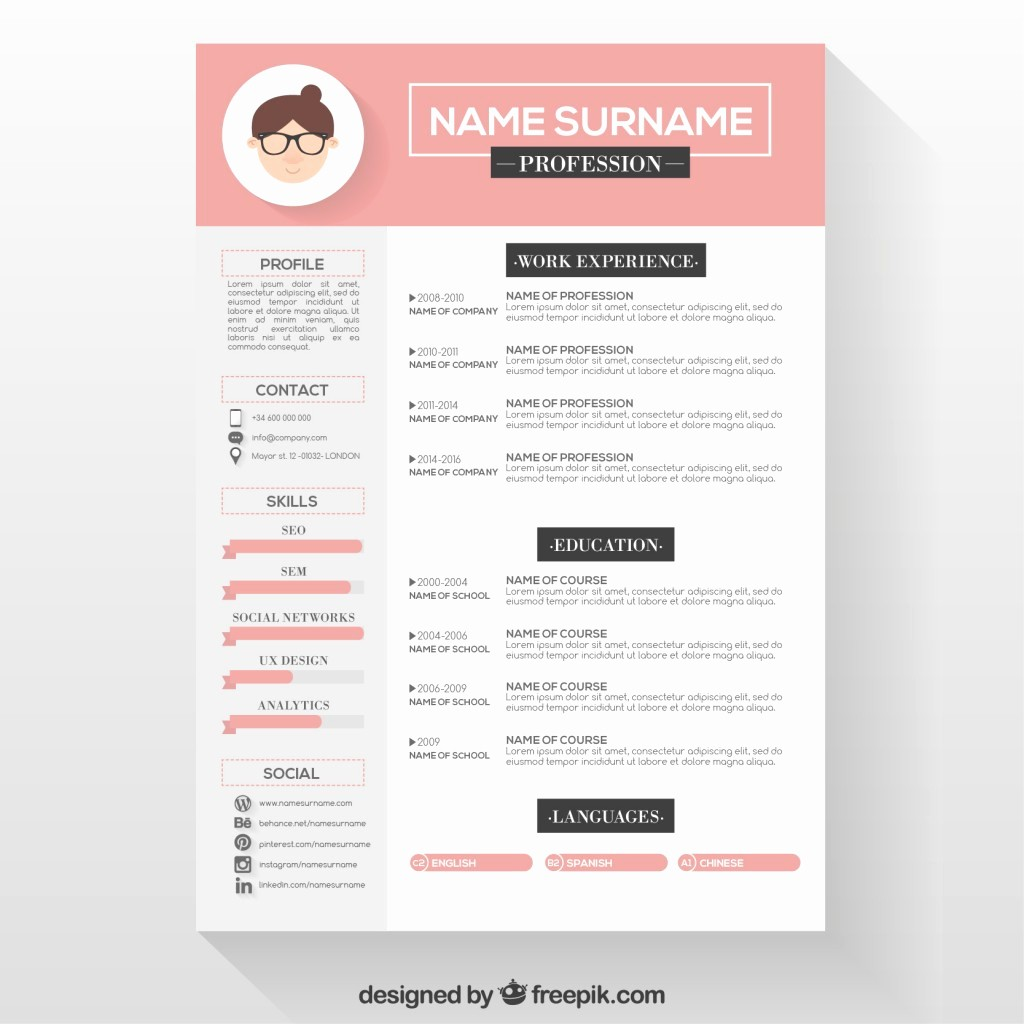 Download Free Professional Resume Templates Awesome 10 top Free Resume Templates Freepik Blog Freepik Blog