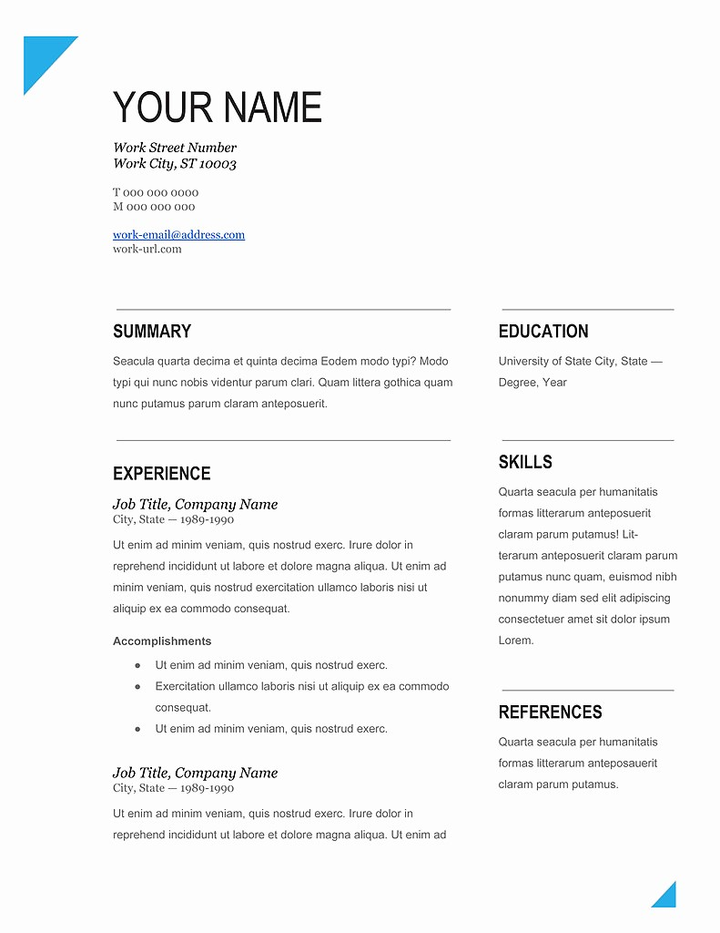 Download Free Professional Resume Templates Awesome Cv Template 2014 Download