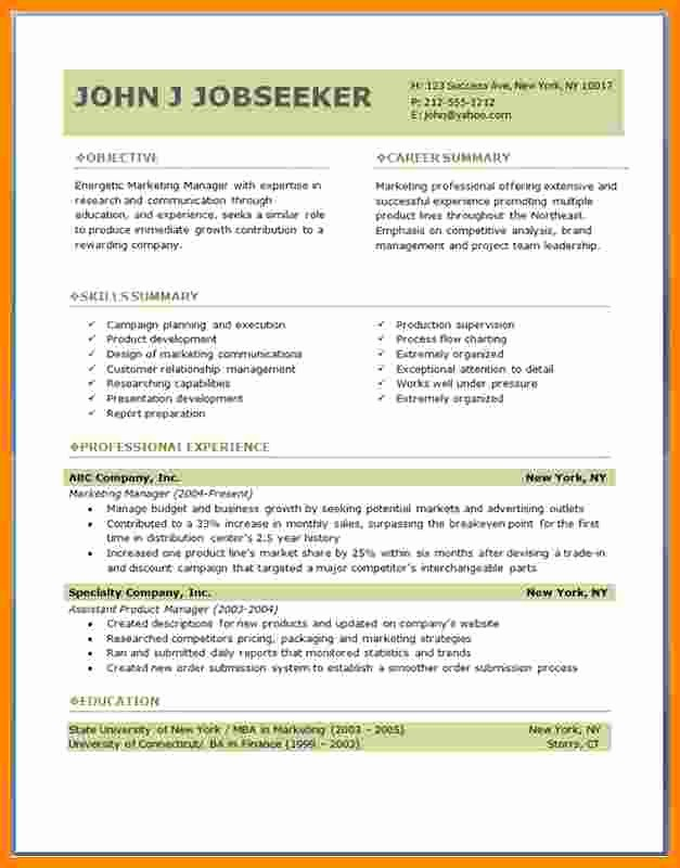 Download Free Professional Resume Templates Best Of 5 Cv format Professional Free