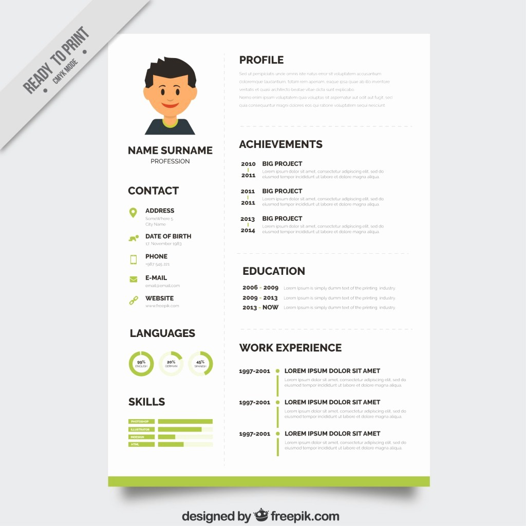 Download Free Professional Resume Templates New 10 top Free Resume Templates Freepik Blog